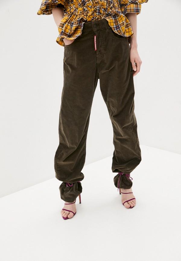 женские повседневные брюки dsquared2, коричневые