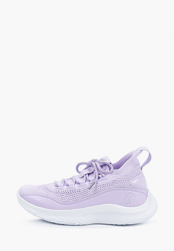 женские низкие кроссовки under armour, фиолетовые