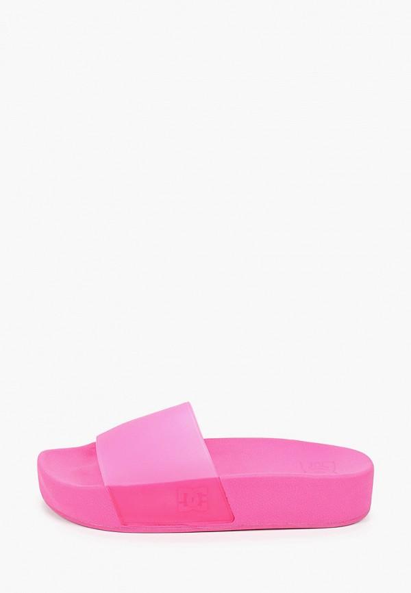 женские сланцы dc shoes, розовые