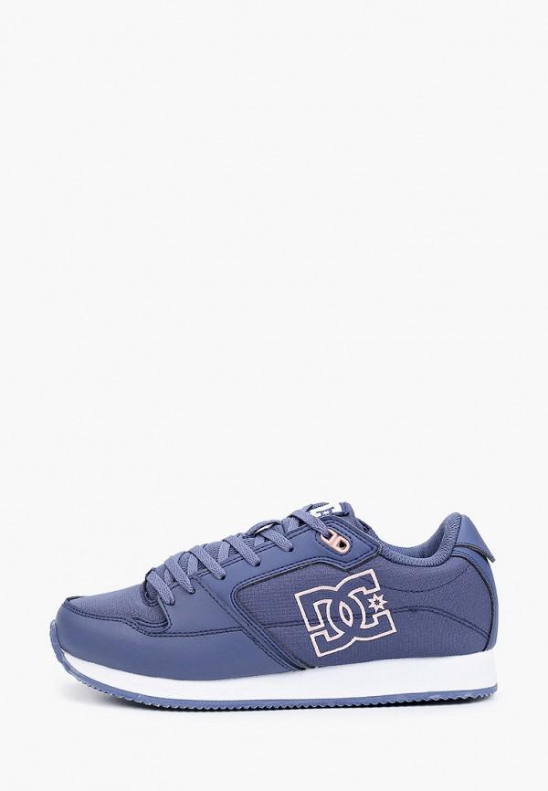 женские низкие кроссовки dc shoes, синие