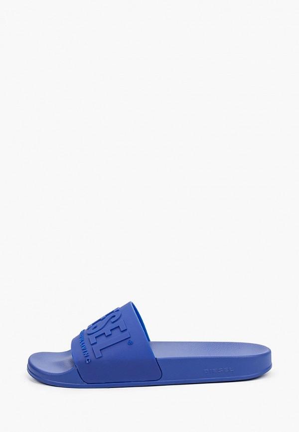 мужские сланцы diesel, синие