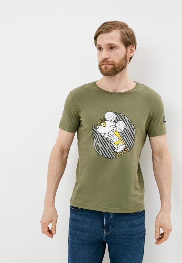 мужская футболка iceberg, хаки