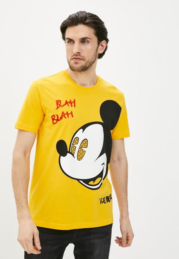 мужская футболка iceberg, желтая