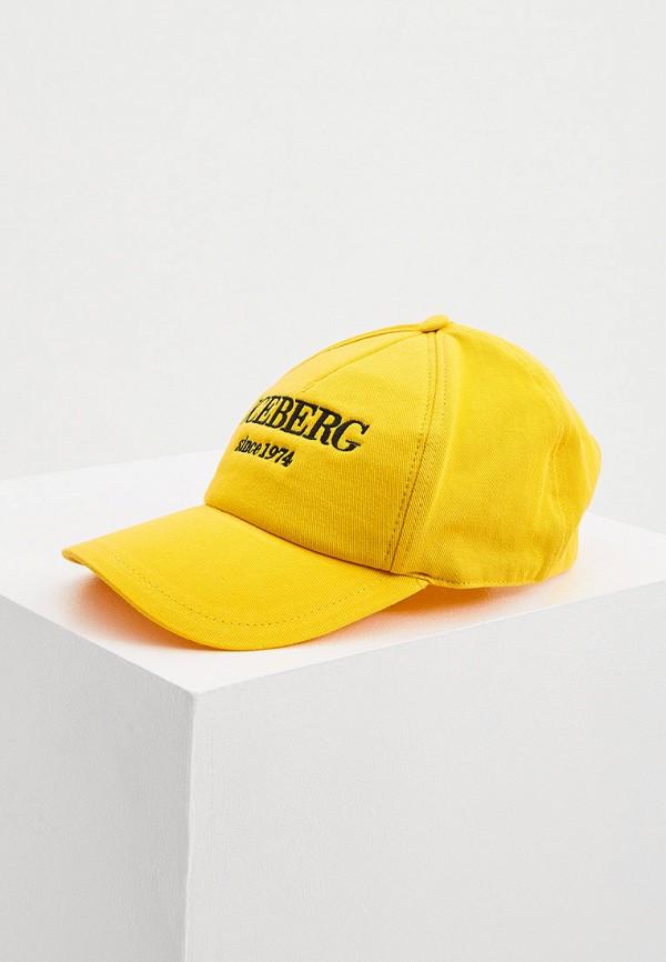 женская бейсболка iceberg, желтая