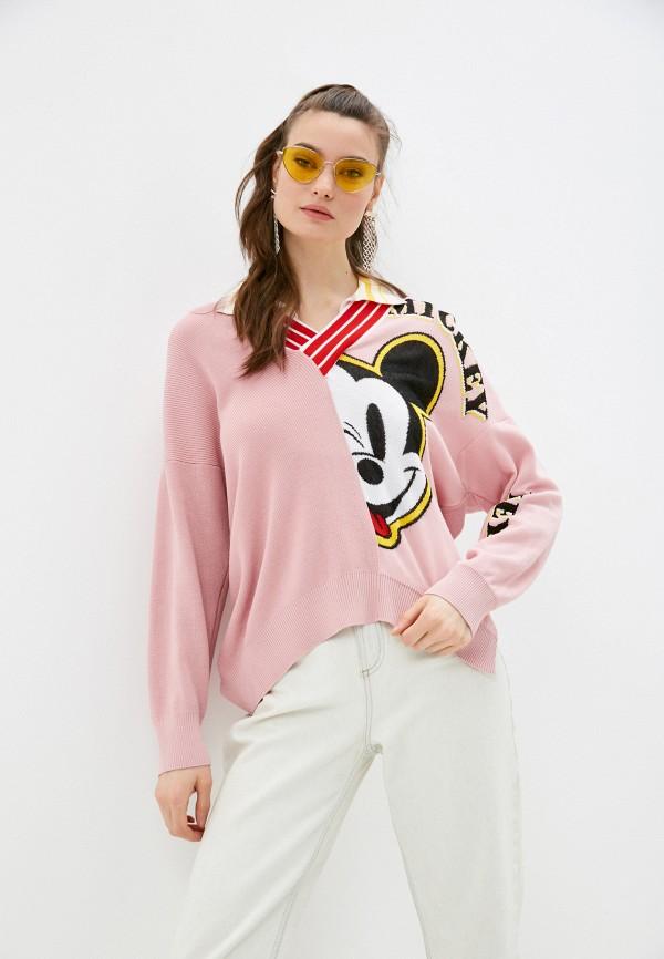 женский пуловер iceberg, розовый