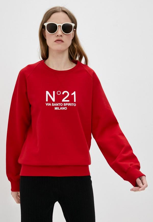 женский свитшот n21, красный