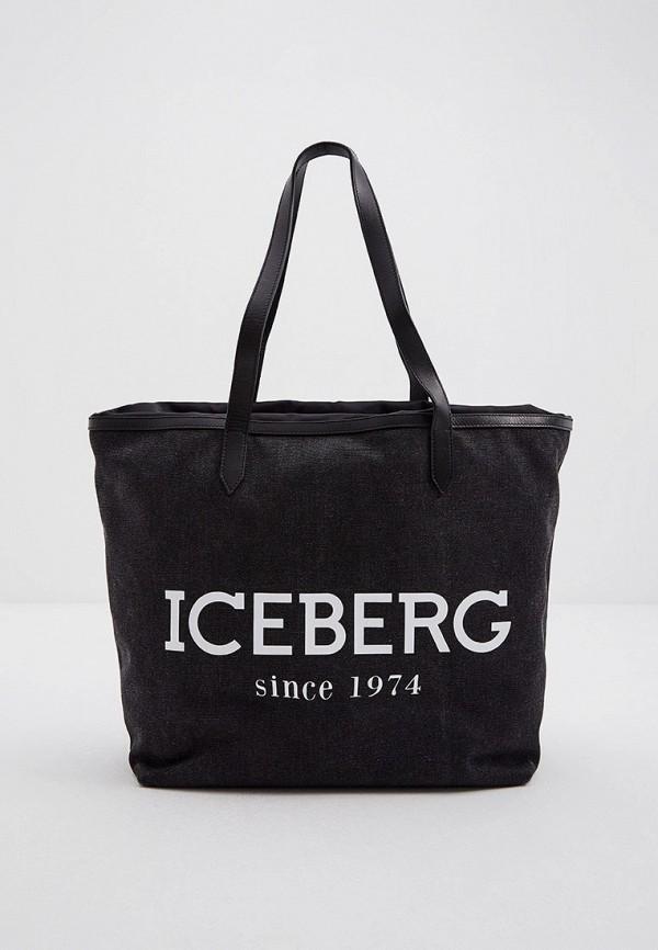 женская сумка-шоперы iceberg, серая