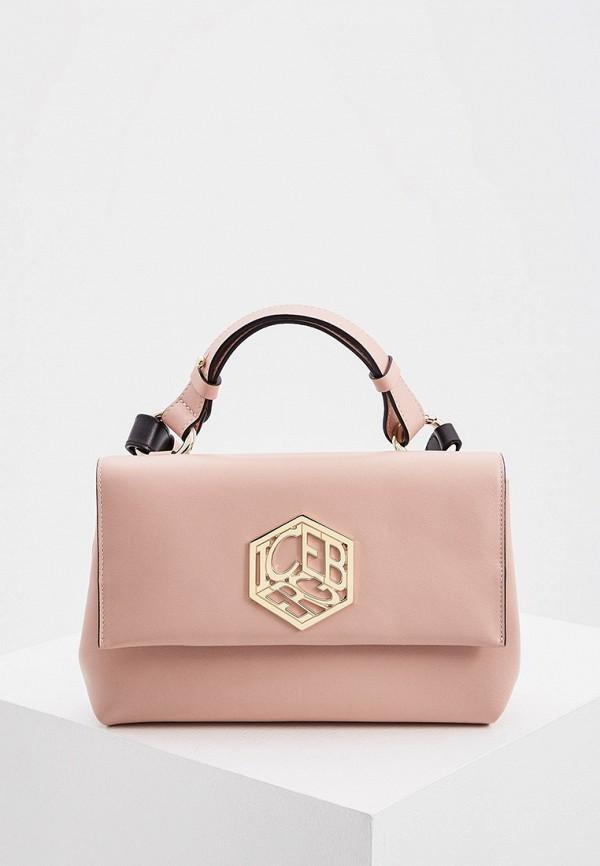 женский рюкзак iceberg, розовый