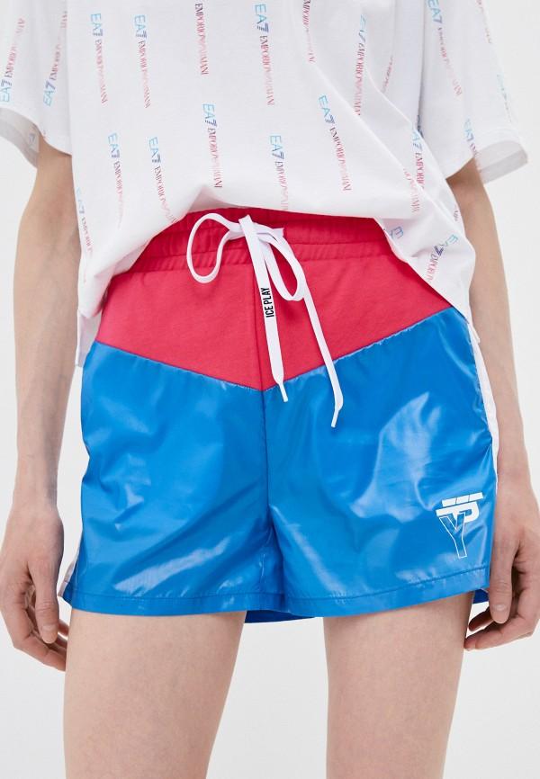 женские спортивные шорты ice play, голубые