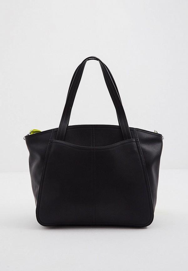 женская сумка-шоперы ice play, черная