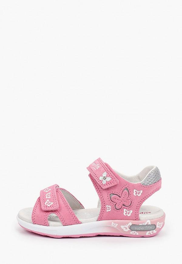 сандалии superfit для девочки, розовые