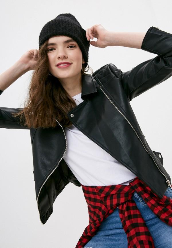 женская куртка косухи izabella, черная