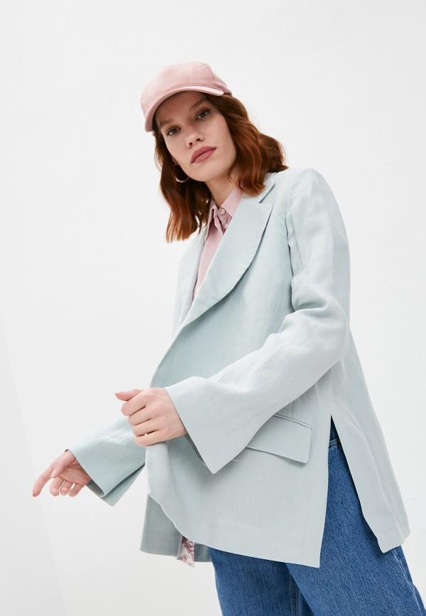 женский пиджак eleventy, бирюзовый