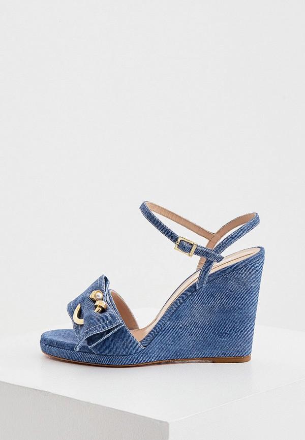 женские босоножки baldinini, синие
