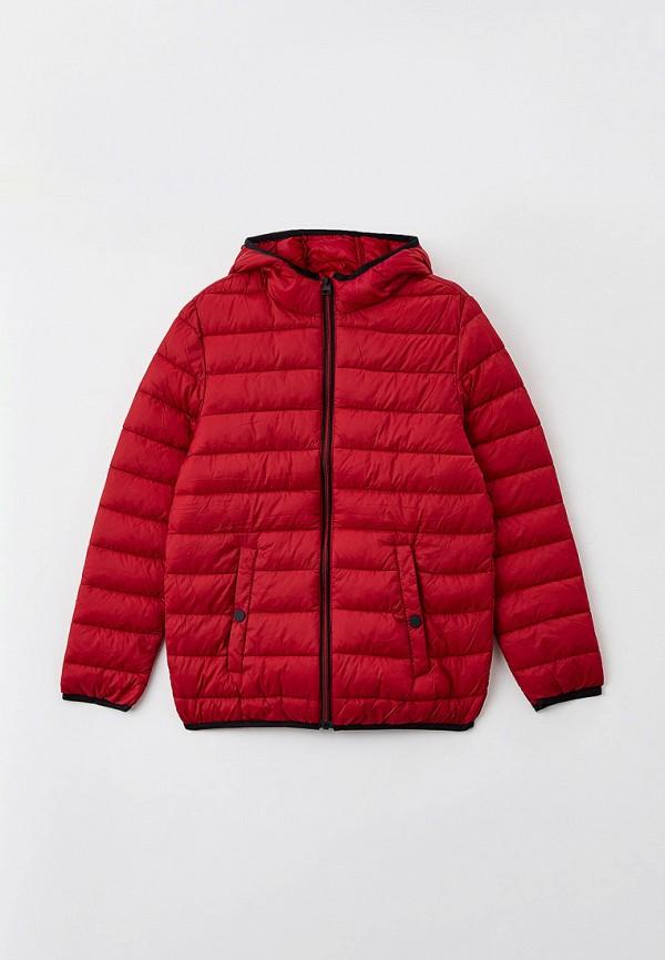 утепленные куртка ovs для мальчика, красная