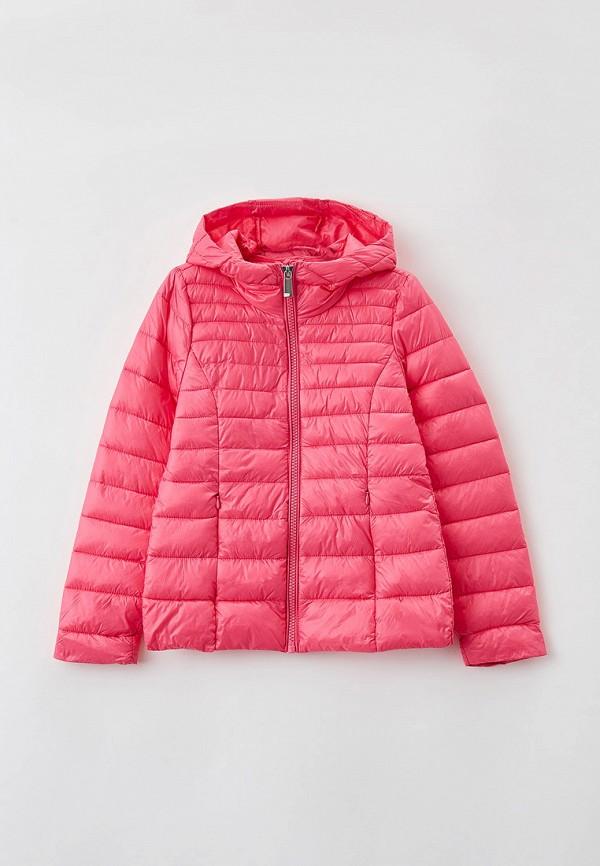 утепленные куртка ovs для девочки, розовая