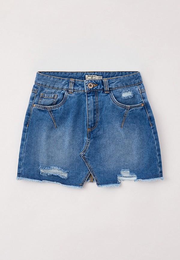 юбка ovs для девочки, синяя