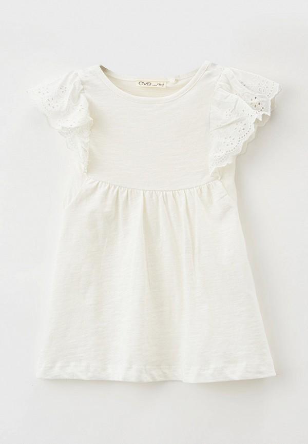 повседневные платье ovs для девочки, белое