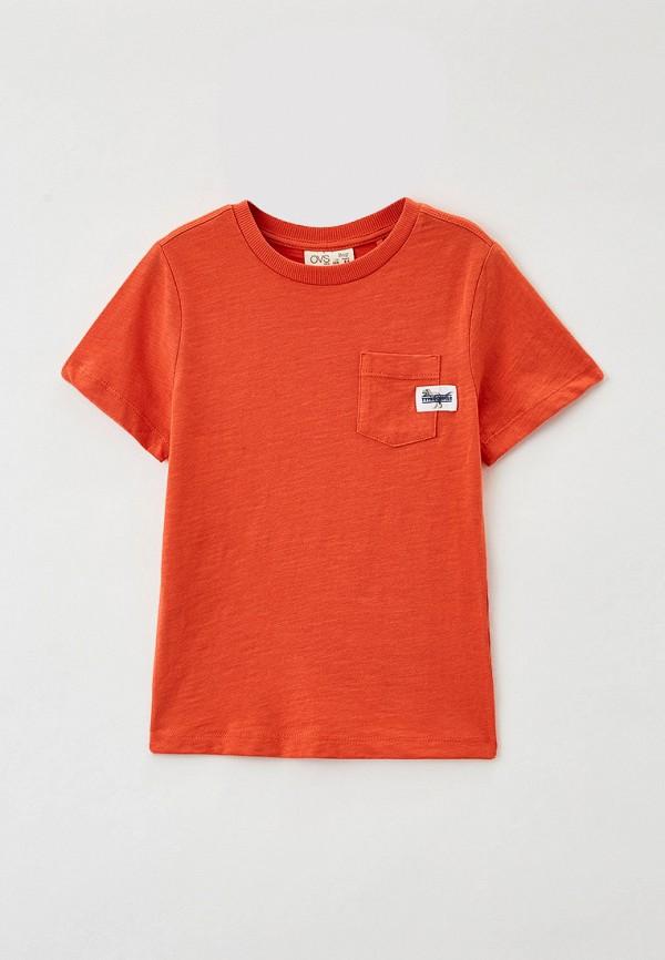 футболка ovs для мальчика, оранжевая