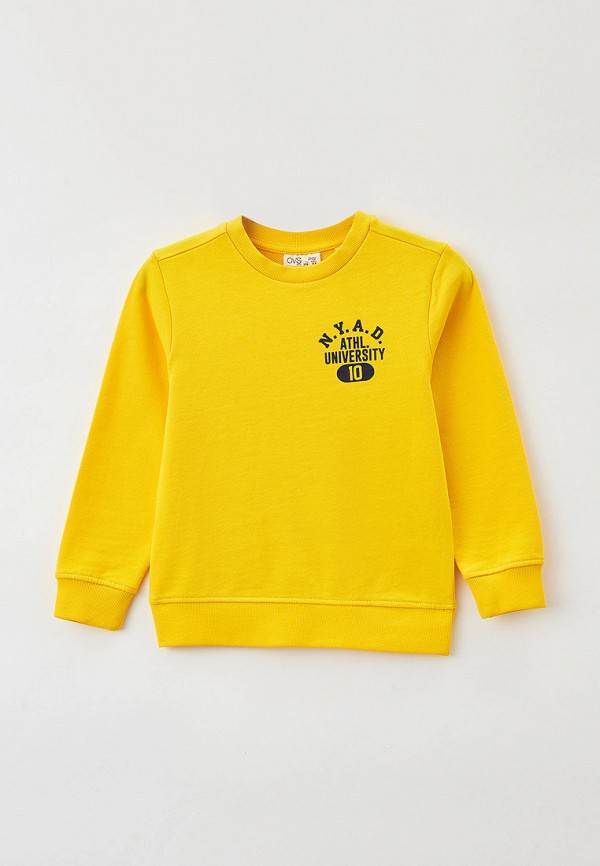 свитшот ovs для мальчика, желтый