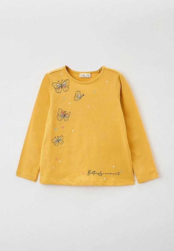 лонгслив ovs для девочки, желтый