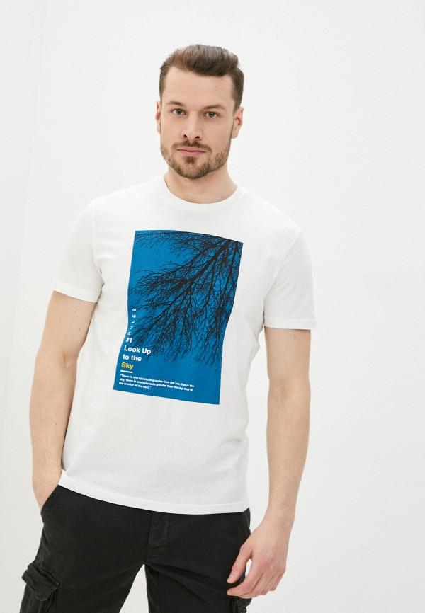 мужская футболка с коротким рукавом ovs, белая
