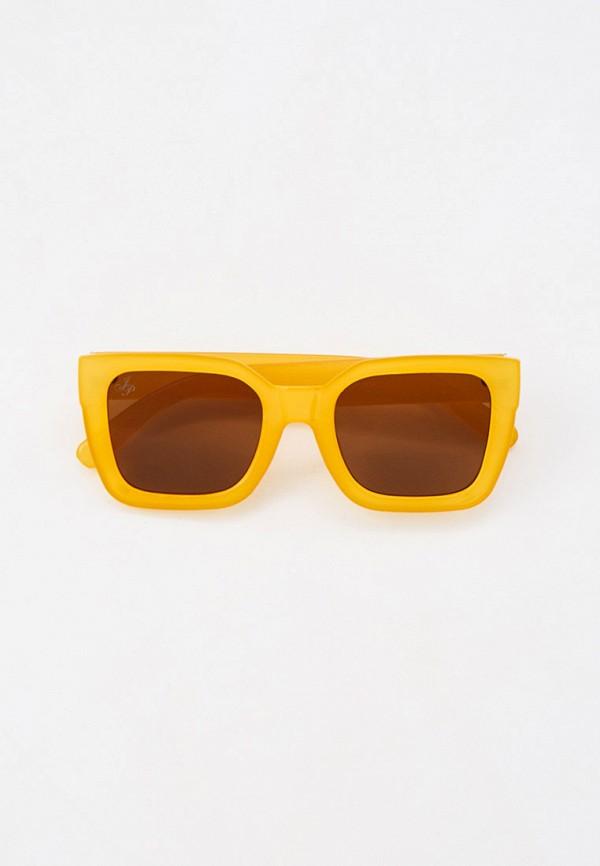 женские квадратные солнцезащитные очки jeepers peepers, желтые