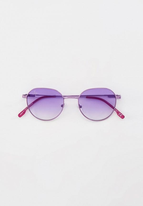 женские круглые солнцезащитные очки jeepers peepers, фиолетовые