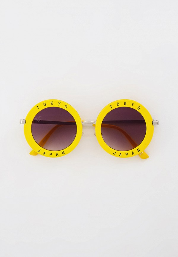 женские круглые солнцезащитные очки jeepers peepers, желтые