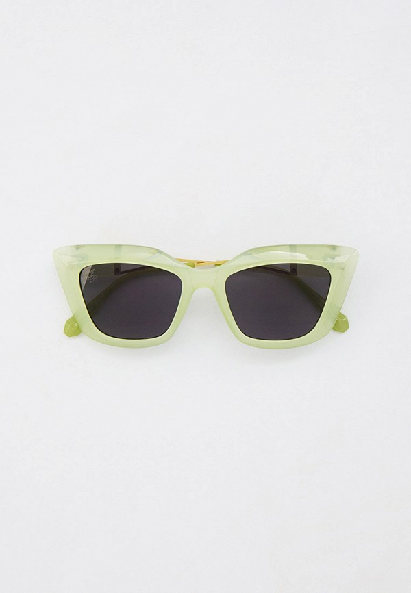 женские квадратные солнцезащитные очки jeepers peepers, зеленые