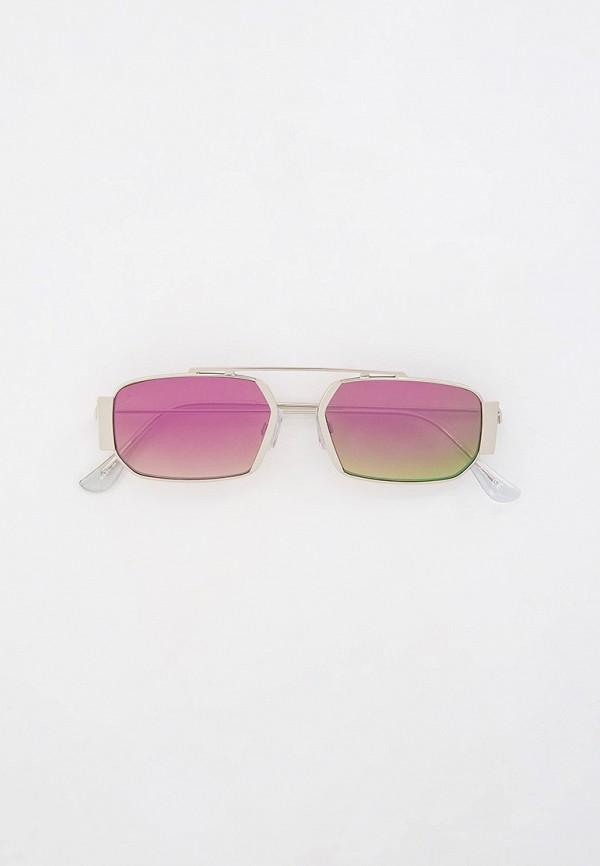 женские квадратные солнцезащитные очки jeepers peepers, серебряные