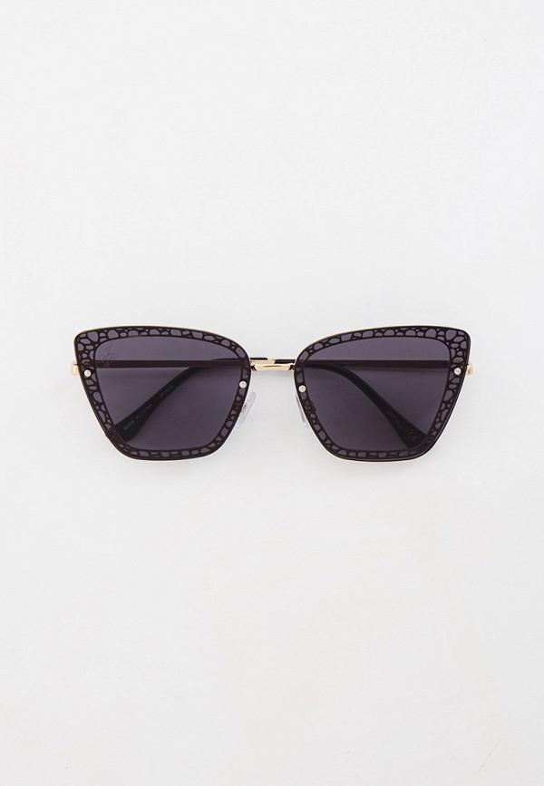 женские солнцезащитные очки кошачьи глаза jeepers peepers, серебряные
