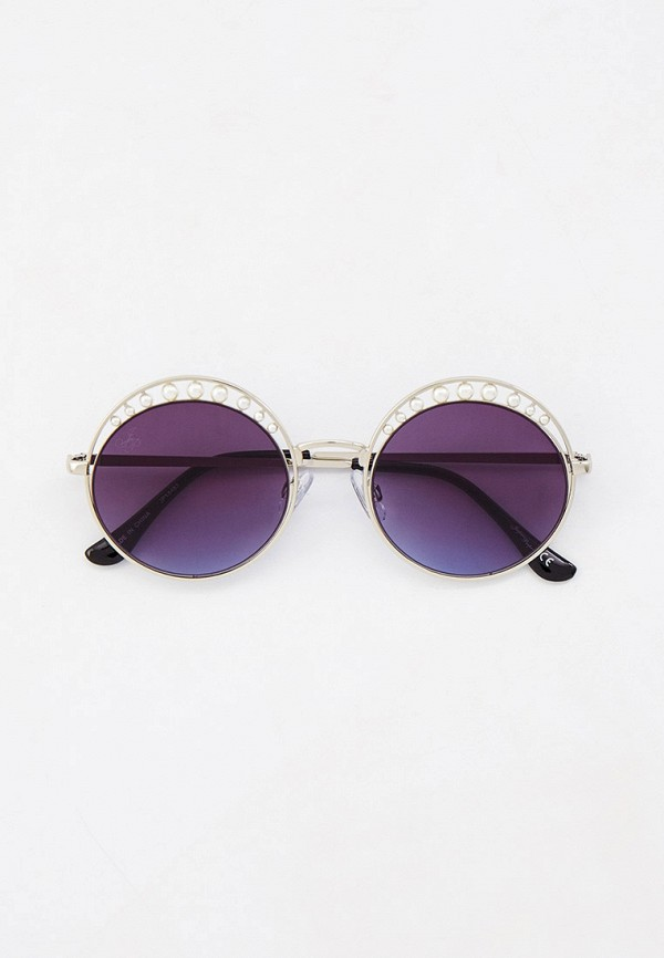 женские круглые солнцезащитные очки jeepers peepers, серебряные