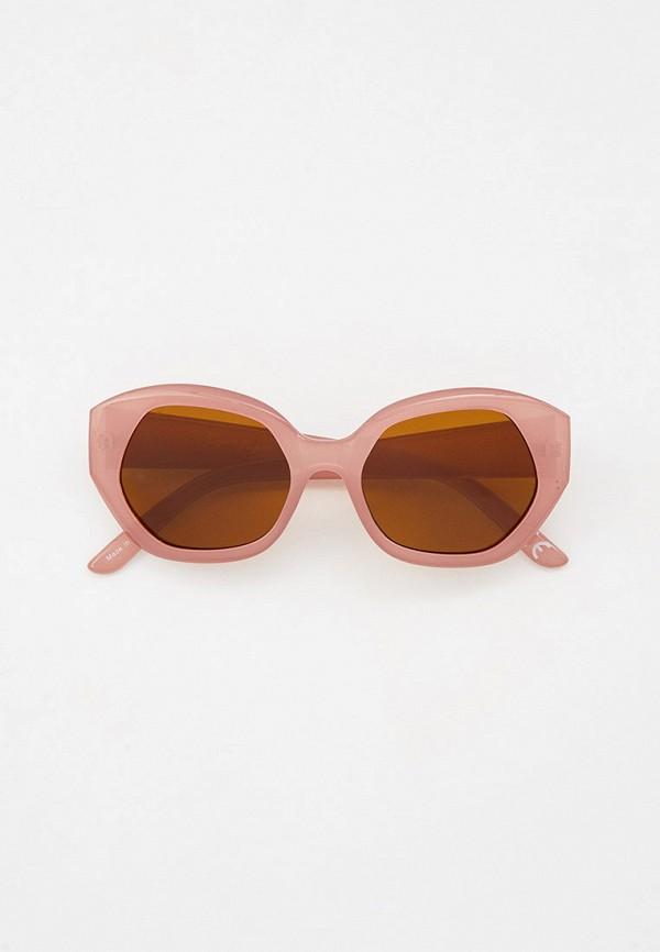 женские круглые солнцезащитные очки jeepers peepers, розовые