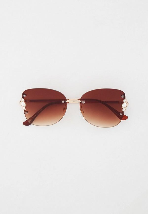 женские круглые солнцезащитные очки jeepers peepers, золотые