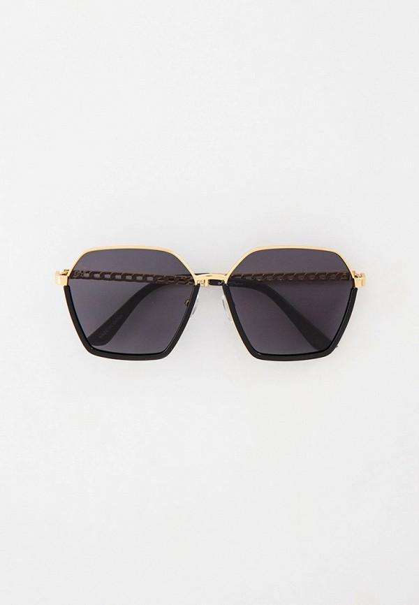 женские квадратные солнцезащитные очки jeepers peepers, золотые