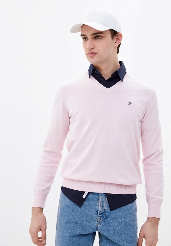 мужской пуловер denim culture, розовый