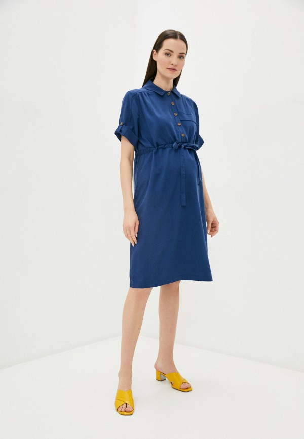 женское платье pietro brunelli maternity, синее