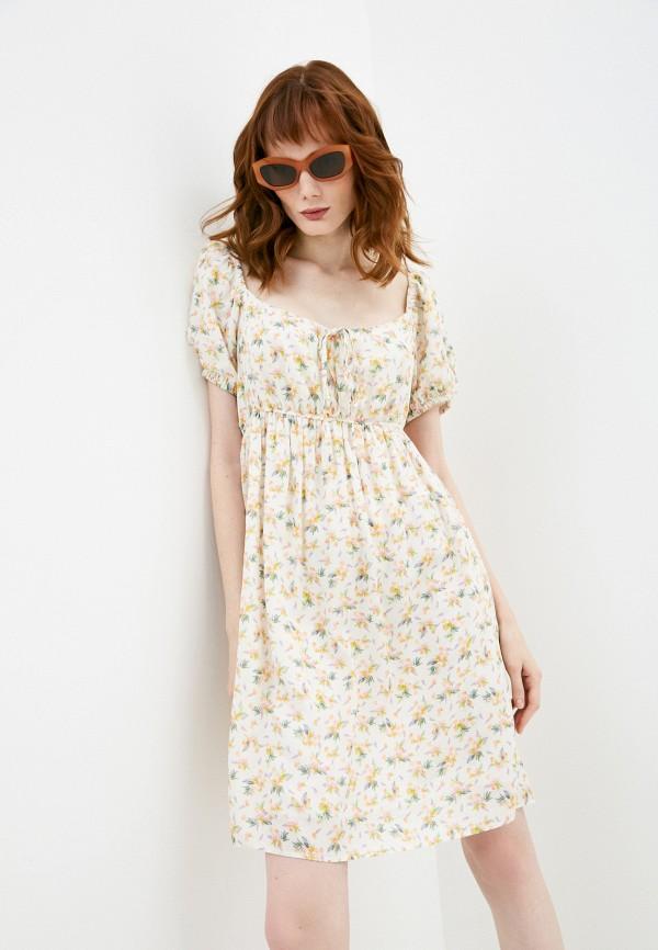 женское повседневные платье pietro brunelli milano, бежевое
