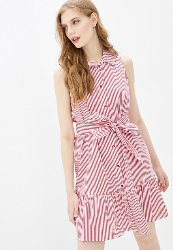 женское платье pietro brunelli milano, красное