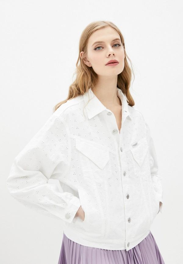 женская джинсовые куртка forte dei marmi couture, белая