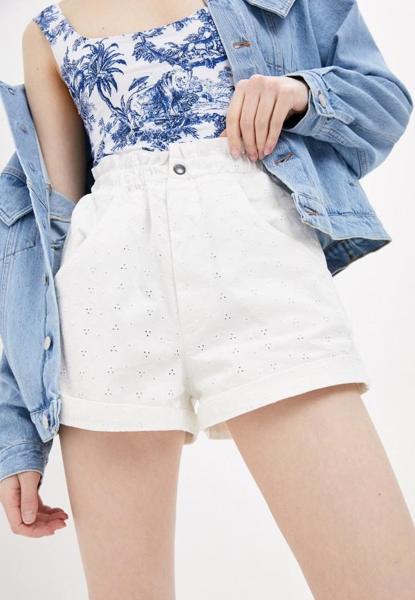 женские джинсовые шорты forte dei marmi couture, белые