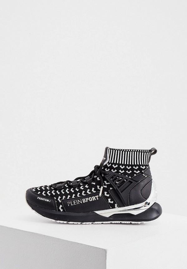 женские высокие кроссовки plein sport, черные