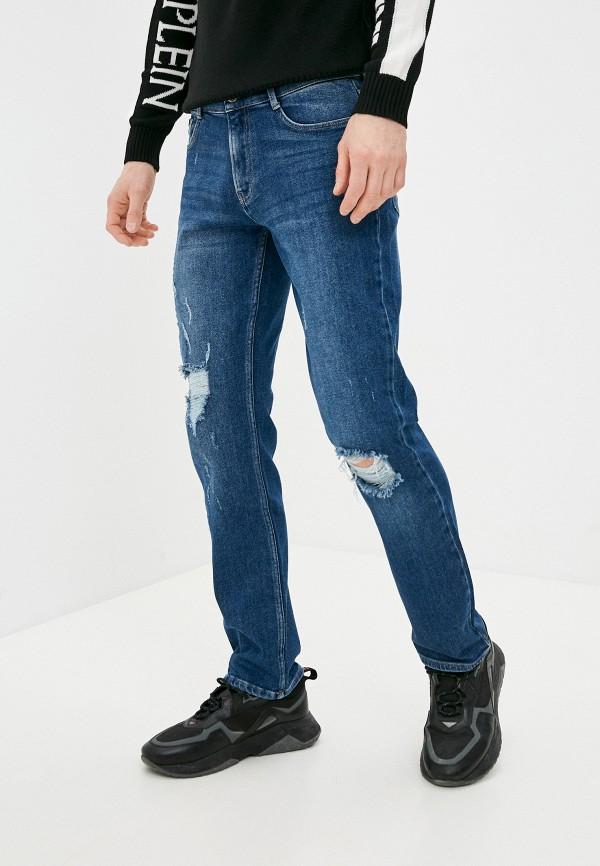 мужские прямые джинсы plein sport, синие