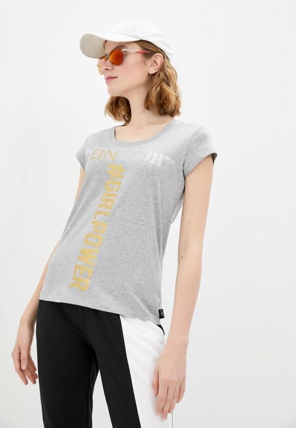 женская футболка plein sport, серая