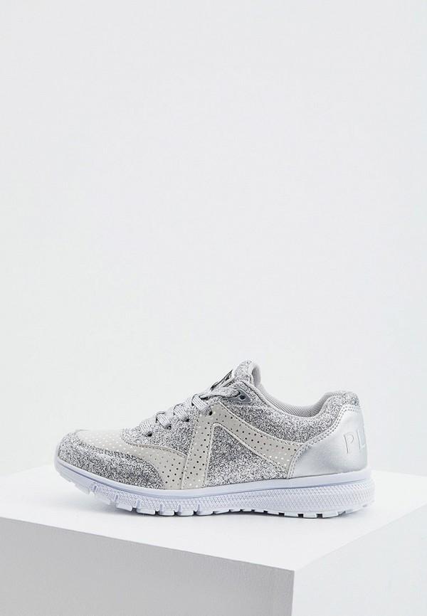 женские низкие кроссовки plein sport, серебряные