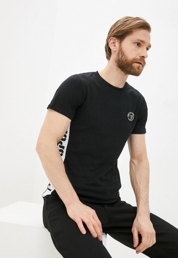 мужская футболка с коротким рукавом plein sport, черная
