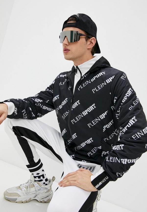 мужская утепленные куртка plein sport, черная
