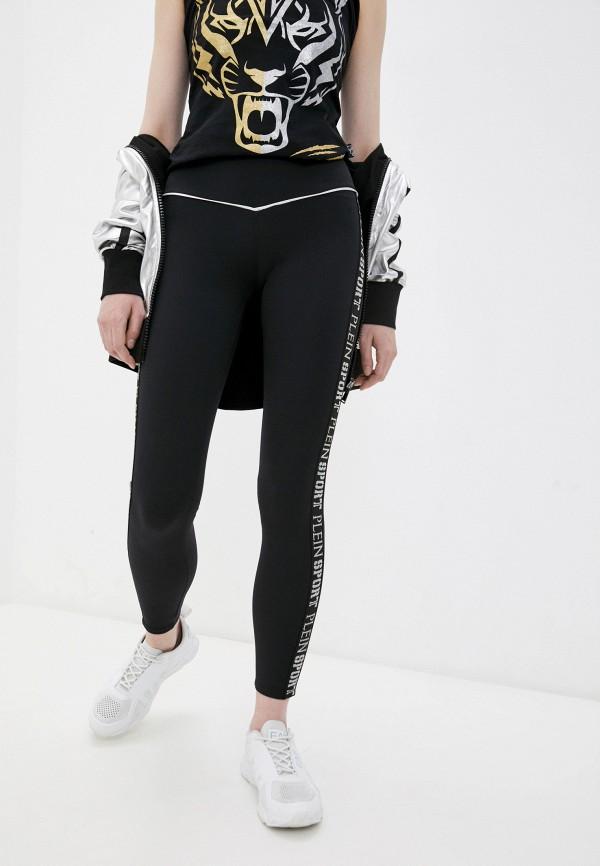 женские леггинсы plein sport, черные
