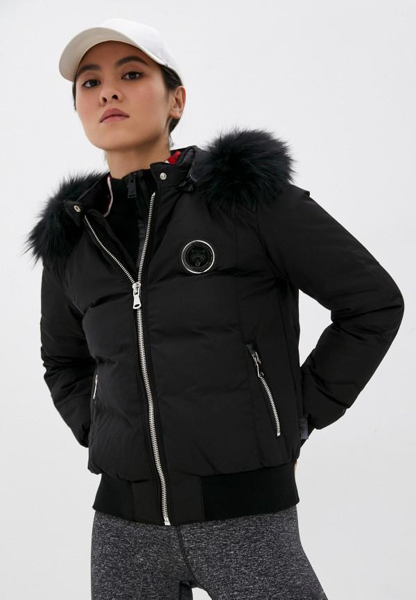 женская утепленные куртка plein sport, черная